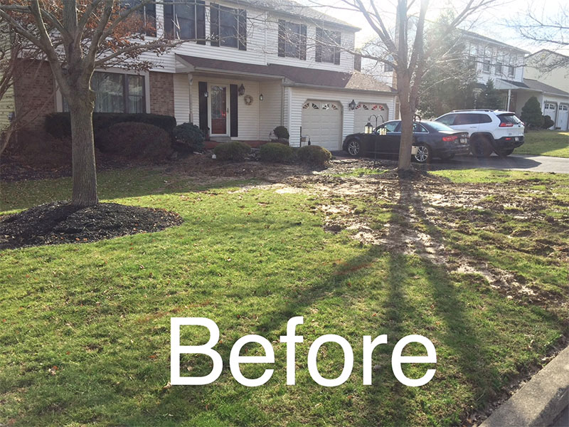 Before Landscape | Hydroscape Drainage - Yardley PA