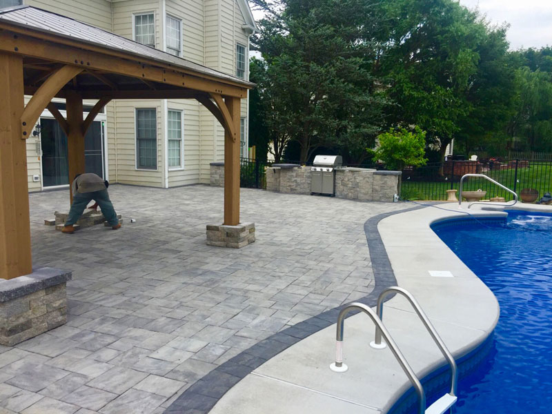 Paved Swimming Pool Deck | Patio - Yardley PA