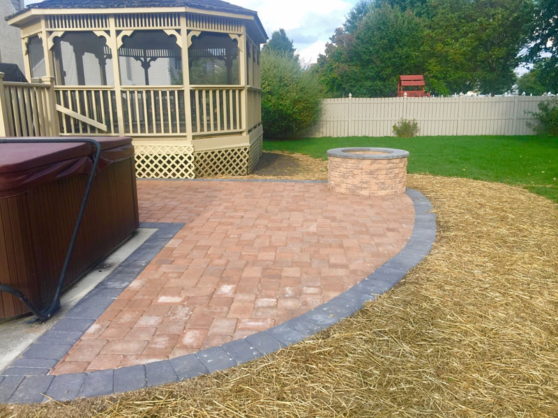 Paver & Curbstone Patio in Bucks County PA